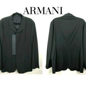 EMPORIO ARMANI Black Sport Coat Jacket Blazer 46